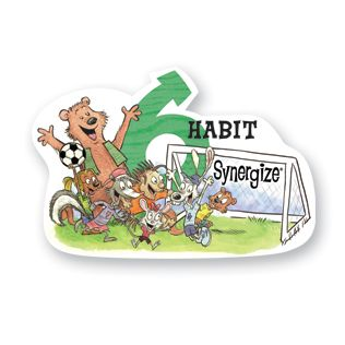 Habit 6 — Synergize  Together Is Better  I value other people's strengths and learn from them. I get along well with others, even people who are different than me. I work well in groups. I seek out other people's ideas to solve problems because I know that by teaming with others we can create better solutions than anyone of us can alone. I am humble.