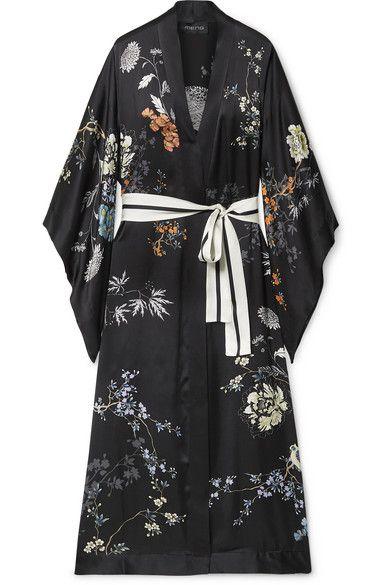 3d5036b2e MENG - Floral-print silk-satin robe noong 2019 | Products | Silk ...