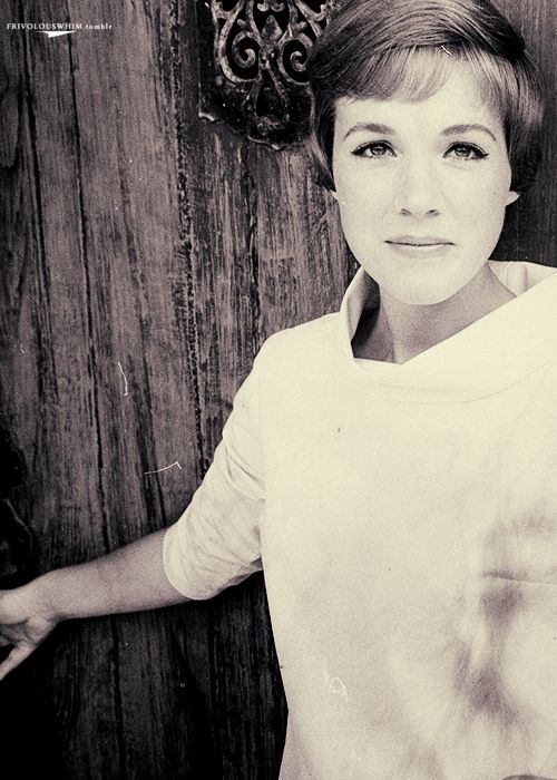 Julie Andrews. One of my favorite women. No matter what, when I look at her, I hear her voice singing in my head.