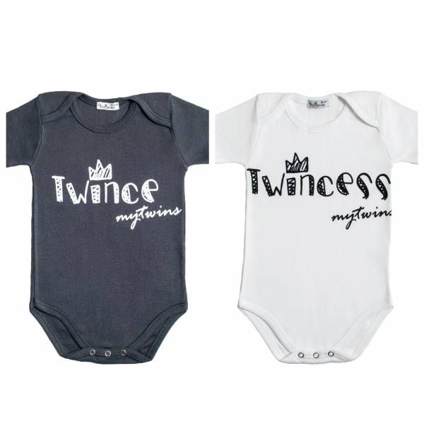 Short sleeve Twin Set onesies Twince & Twincess.