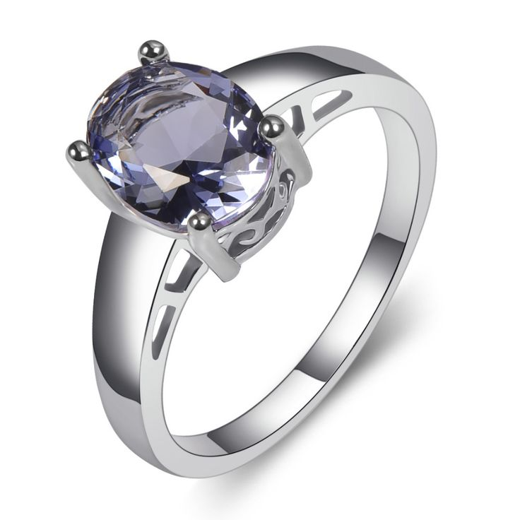 Created Tanzanite 925 Sterling Silver Fashion Engagement Wedding Ring Size 5 6 7 8 9 10 11 12  PPR04