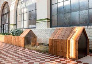 Studio Segers - ecologisch compostsysteem met planten en groentebakken en een kippenhok, Ovam Ecodesign prijs voor 'Daily Needs'.