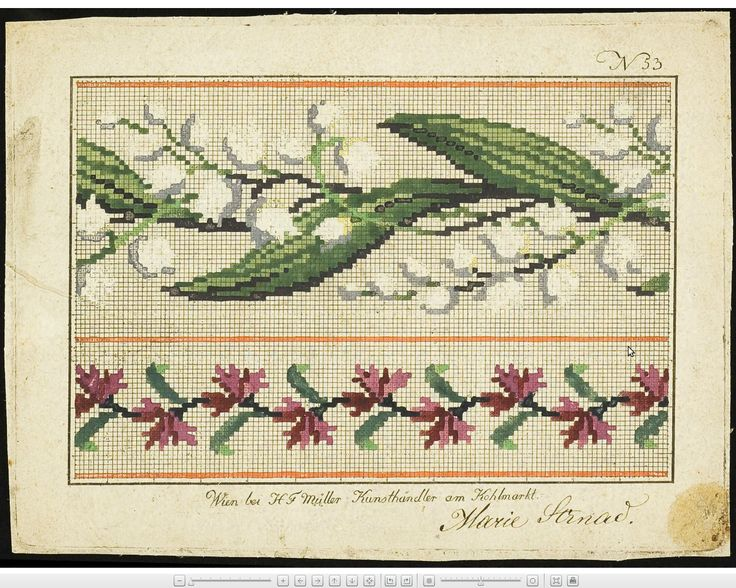 Wien wool work pattern: Lilies of the Valley