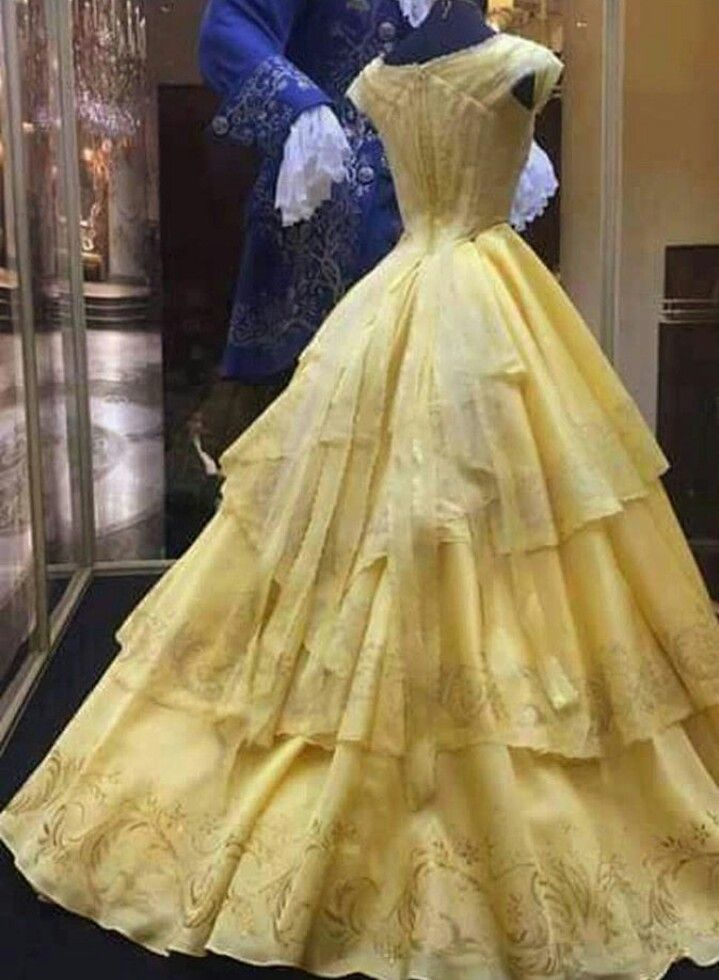 Beauty and the beast belle wedding dress 2017