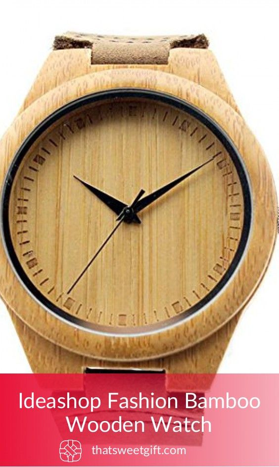Ideashop Fashion Bamboo Wooden Watch #thatsweetgift