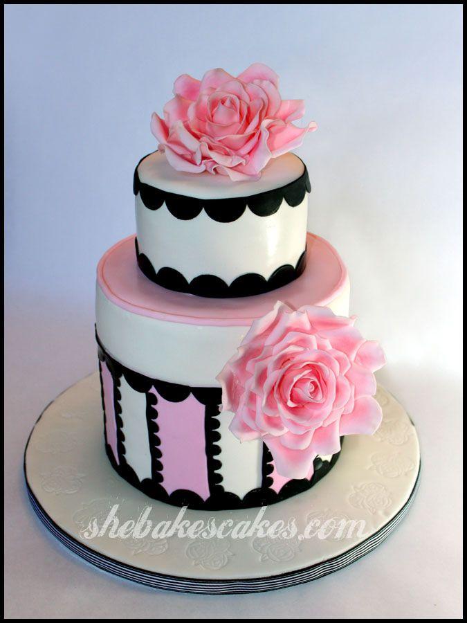 Fondant Roses Cake 88th Birthday Cake Barbourvile