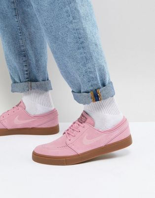 5fa88786a Nike SB Stefan Janoski Trainers With Gum Sole In Pink 333824-604