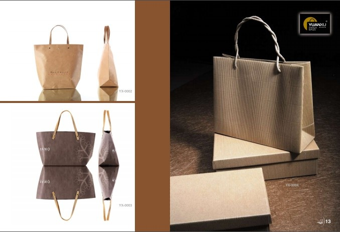 Custom exquisite kraft paper bag