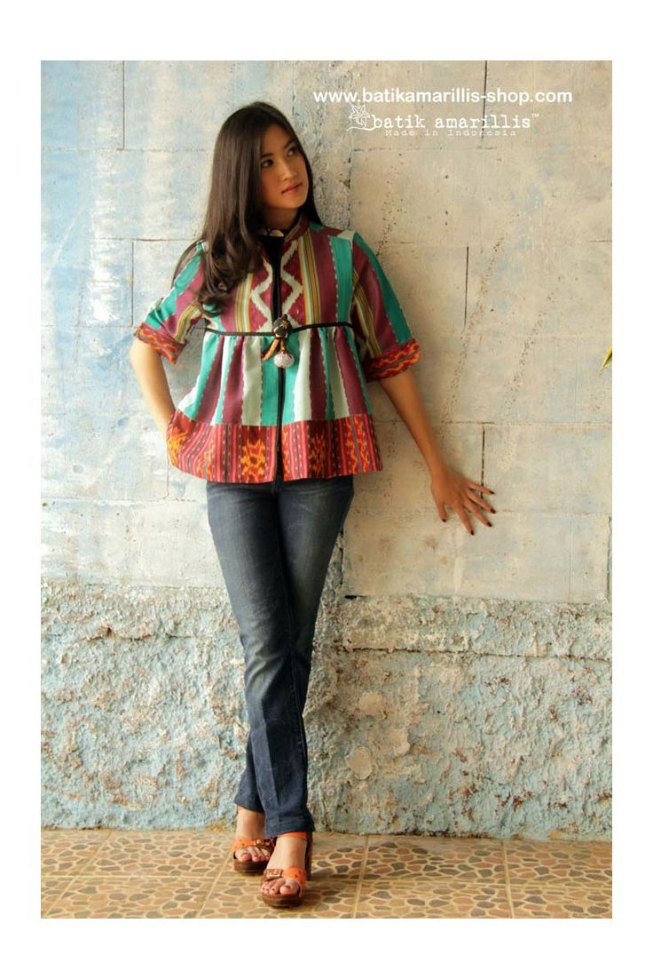 Batik Amarillis's Romancia jacket in various Ikats of Indonesia