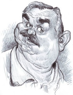 """John Ratzenberger (He played 'Cliff' on """"Cheers"""") (by janopdebeeck)"""