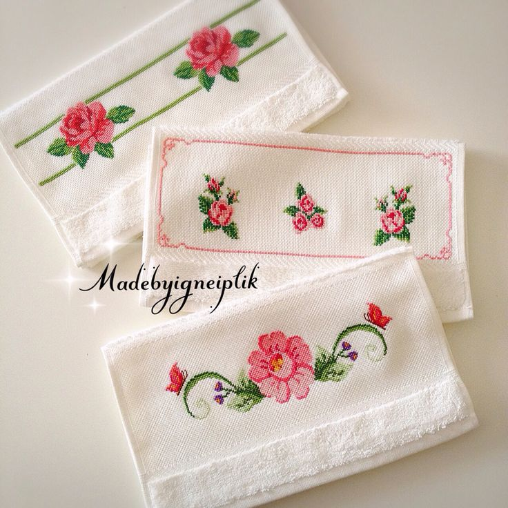 Cross stitch towels  İnstagram  / madebyigneiplik
