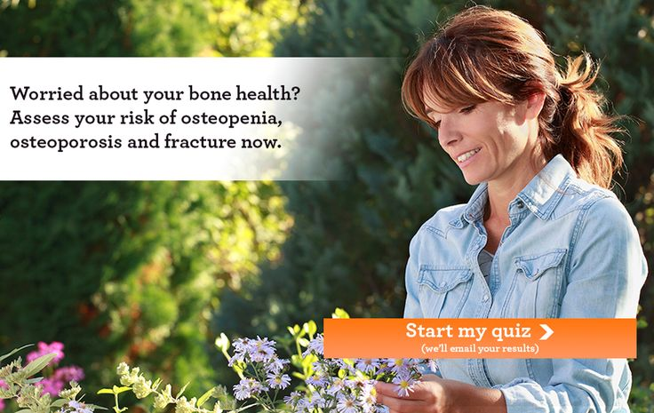 Free quiz to check osteoporosis and bone loss risk factors. #bonehealth #osteopenia