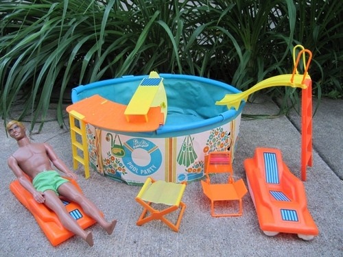 Details About Rare Vintage 1973 Barbie Swimming Pool Party Play Set Lot Loaded Excellent Ken