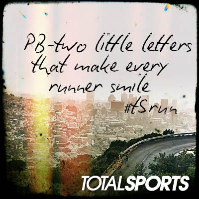 PB  - two little letters that make every runner smile #TSrun