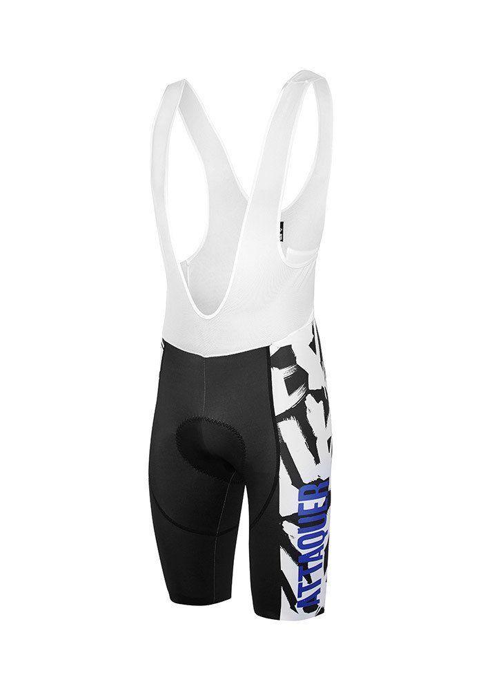 Core Brush Bib Short White/Black Cycling Bib Shorts Attaquer - 1