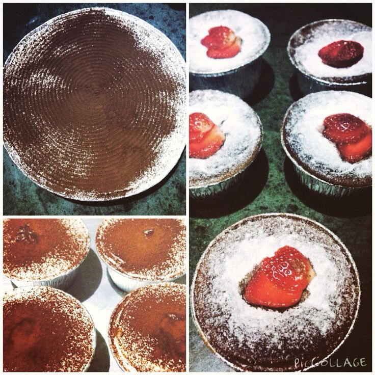 Homemade Molten Chocolate Lava cake and Banoffee pie for my loyal customer