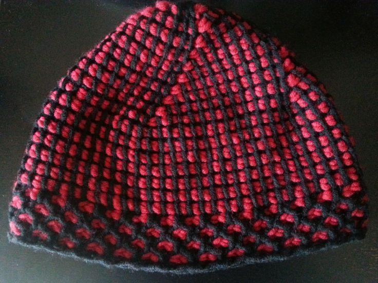 Kreativ-Blog: Tunesisch häkeln - Mütze 2. Entwurf