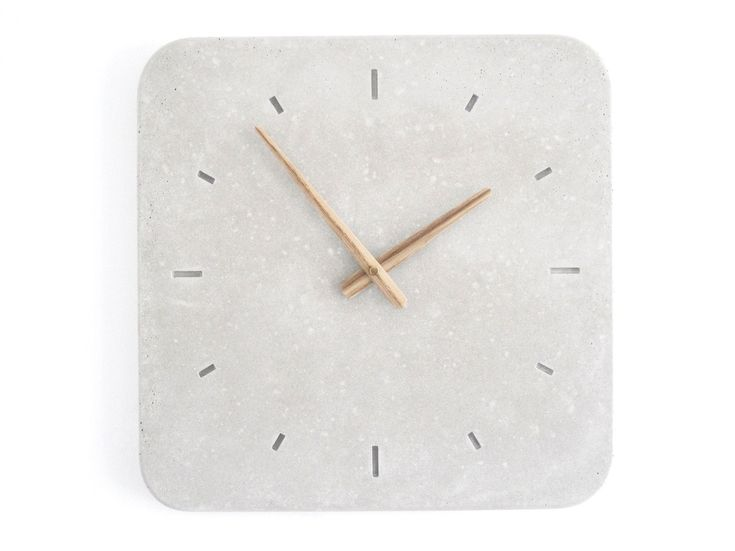 concrete wall clock / WertWerke: Concrete Wall, Concrete Clocks, Clocks Decor, Wall Clocks