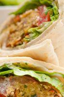 Falafel and hummus wraps