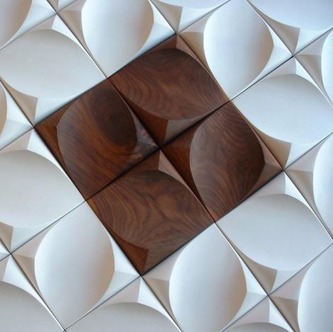 Wood & concrete tiles