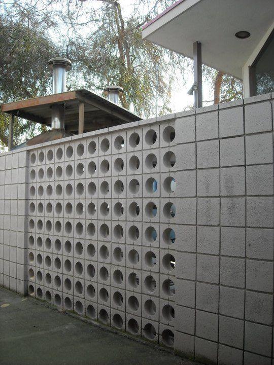 Early 1960s Concrete Block Brick Wall Porterville Ca