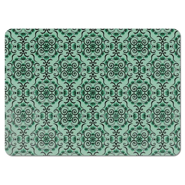 Uneekee Lace Idol Green Placemats (Set of 4) (Lace Idol Green Placemat) (Polyester)