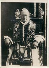 1934 His Holiness Bishop Rome Pope Pius XI Vatican City Portrait Press Photo