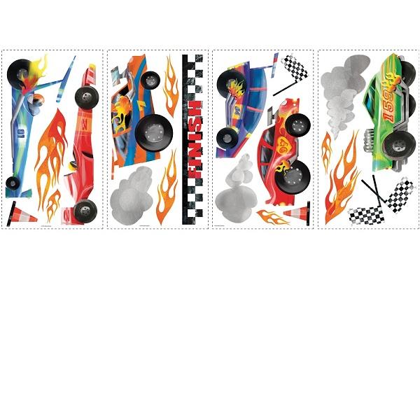 Veggdekor - Racerbiler - Inspirasjon til kreative barnerom - Veggdekor ...