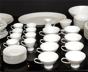 Modernist Set of Rosenthal China Designed by Raymond Loewy  Germany  Circa 1950