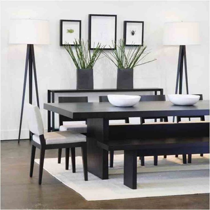 Furniture Minimalist Style Of Black White Dining Room