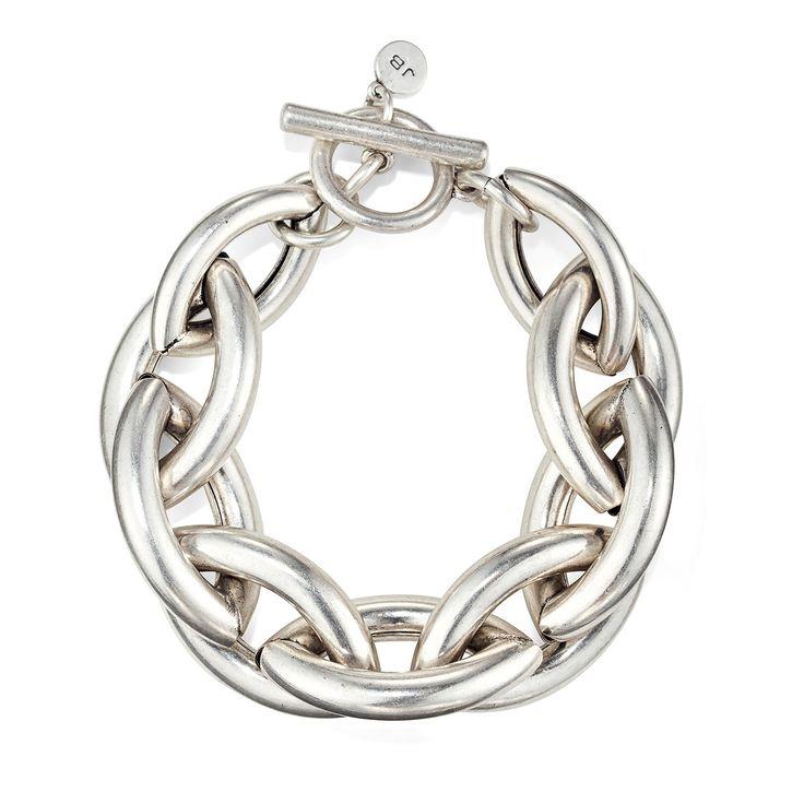 Large Sloane Bracelet by Jenny Bird in Oxidized Silver