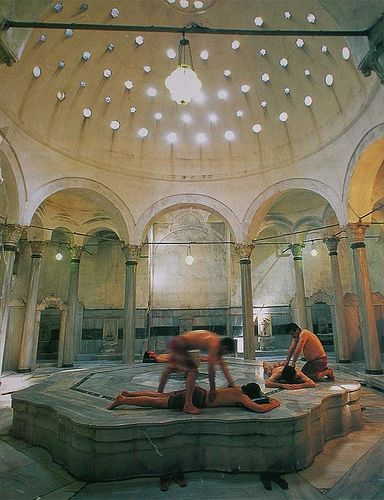 """Hamam in Turkey... """"In life, there aren't too many opportunities to wander semi-naked through a 16th-century Ottoman monument. Unless you visit İstanbul, that is."""""""