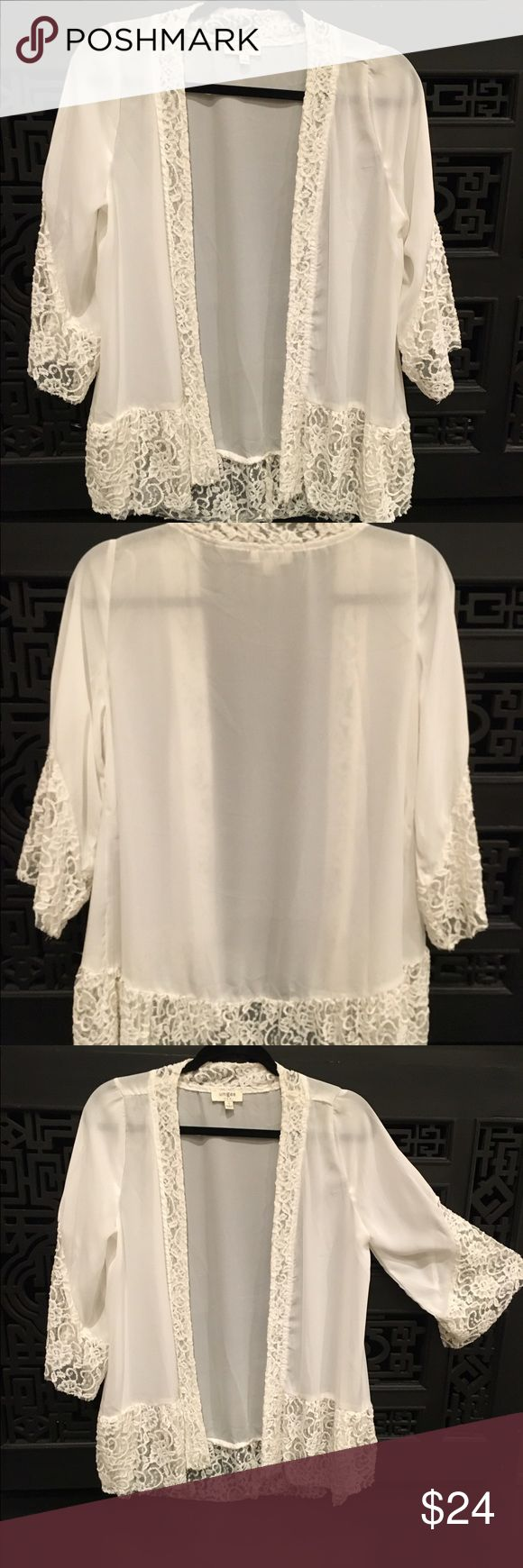 Umgee brand kimona Great piece, semi-sheer with lace accents, never worn Umgee Other