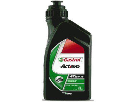 OLEJ CASTROL ACT/EVO 4T  20W50 1L MINERALNY Cechy Technologia Trizone chroni silnik, sprzęgło i skrzynię Specjalne dodatki chroniące przed zużyciem dla łatwego zapłonu i ruszenia Doskonała ochrona przed utlenianiem i zużyciem pomiędzy wymianami oleju Spełnia wymagania silników wyposażonych w katalizatory Odpal i jedź! Castrol Act>evo 4T jest nowoczesnym olejem mineralnym do chłodzonych powietrzem 4-suwów, odpowiednim do motocykli z jednym i dwoma cylindrami.