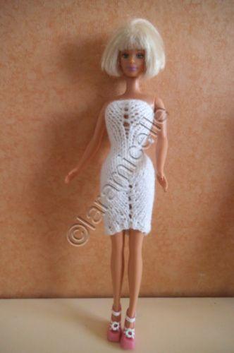 tuto gratuit barbie :mini robe fourreau asymétrique