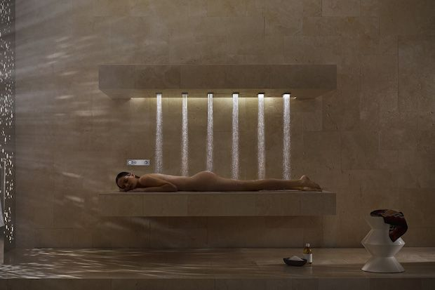 The New Way Of Showering: The Horizontal Shower by Dornbracht | First Look http://stupidDOPE.com/?p=344794 #stupidDOPE