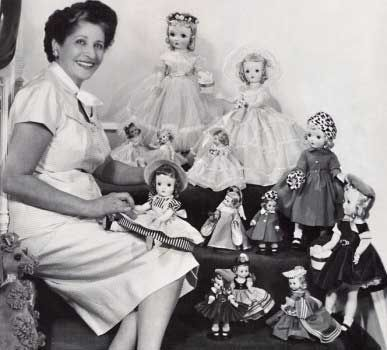 "She was an American entrepreneur who created the first ""collectible"" dolls based on a licensed character – Scarlett O'Hara from the book and movie Gone with the Wind. She was also one of the early creators of mass-produced dolls in honor of living people with dolls of the famous Dionne quintuplets in 1936, and a set of 36 Queen Elizabeth II dolls to commemorate the 1953 coronation celebrations in Britain. In 2002 two Judy Garland portrait dolls were introduced."