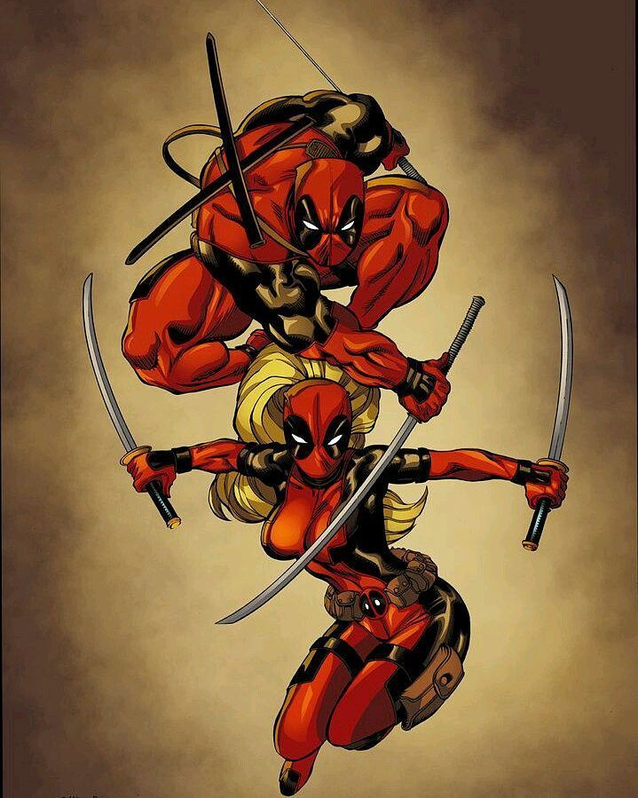 #Deadpool and #LadyDeadpool by Ed McGuinness Tony Kordos &Tim Brown by devilzsmile.com #devilzsmile