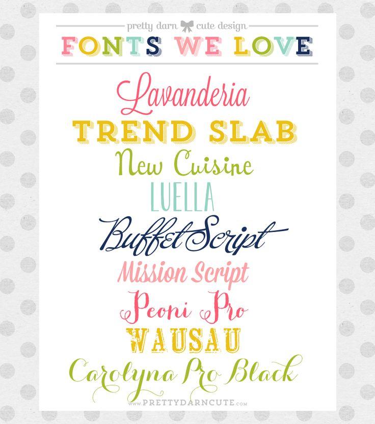 A Few of My Favorite Pretty Fonts