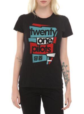 Twenty One Pilots Logo Girls T-Shirt THIS IS MY SHIRT