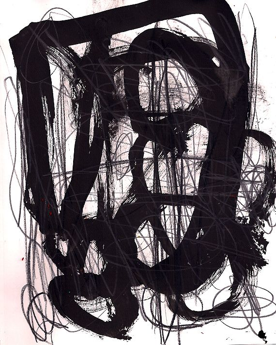 Automatic Drawing Ink Graphite by Marie Bortolotto