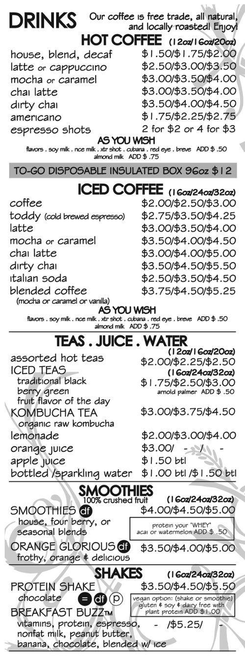 Best 25 Coffee Menu Ideas On Pinterest Coffee Chalkboard