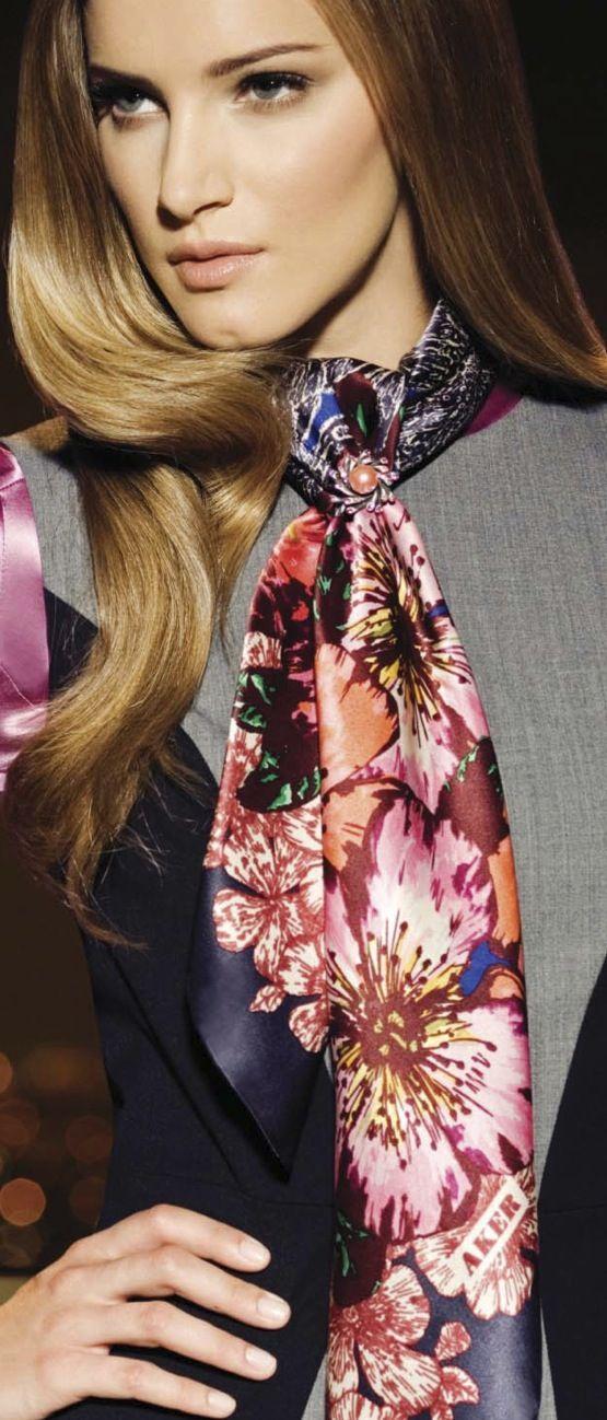 Aker Eşarp / Scarf - 2009-10 F/W #aker #scarf #esarp #hijab #fashion #silk #scarves #moda #hijab #tesettur #model #mode #style #pattern #babushka #kerchief #shawl #wrapper #trend #aker #akeresarp #akerscarf