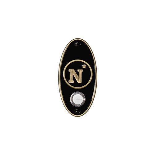 Nutone CP2NA U.S. Naval Academy College Pride Door Bell with Cast Metal Pushbutton (Brass Finish), Gold
