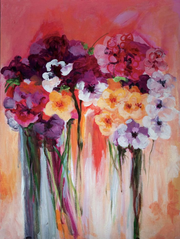 59 best images about pastel art on pinterest flower for Floral acrylic paintings
