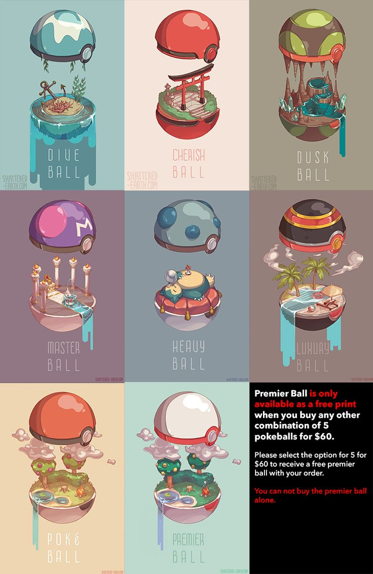 Prints+of+various+pokeball+interiors+to+decorate+your+interiors!    This+is+a+PREORDER+listing,+they+will+not+ship+till+Sept+5th.    The+only+way+to+receive+a+premier+ball+is+to+buy+and+5+pokeball+prints+for+$60.+Please+list+which+5+you+would+like+in+the+order+notes.+You+can+not+list+premier+ball...