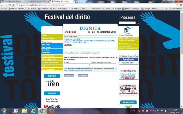 Riceviamo e pubblichiamo leinformazioni sul Festival del Diritto a…