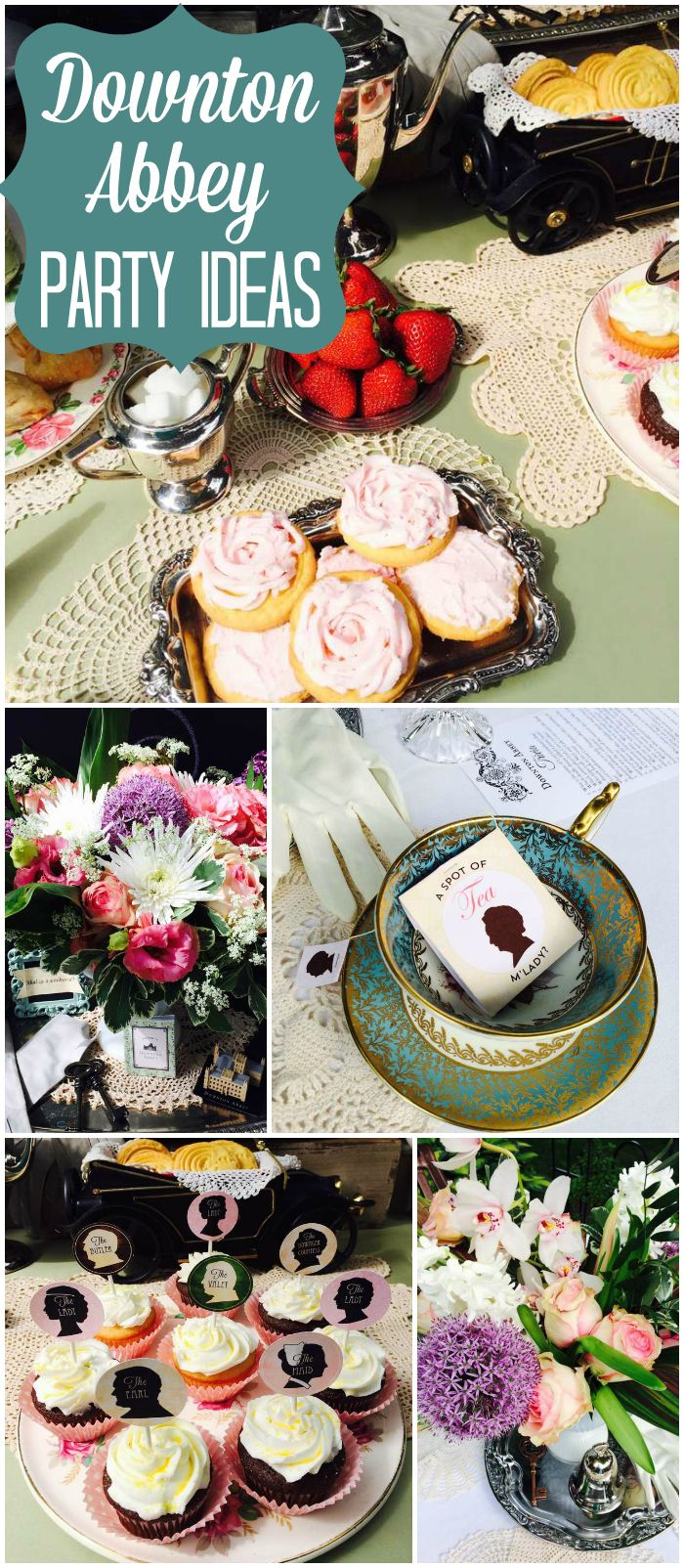 What a great idea to have a Downton Abbey brunch for Mother's Day! See more party ideas at CatchMyParty.com!