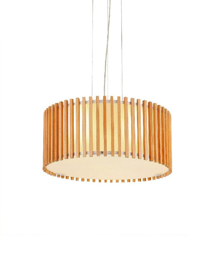 Take this charming drum shape pendant light home to brighten your home décor. It features fine iron and wooden exterior shade; which can be used for a long period. With its Double interior shade and the burlywood wooden exterior shade, it has high decoration value. As the shade is surrounded by hundreds of wooden stick, it can create some funny shade, when lit. Your room will be more beautiful with it.