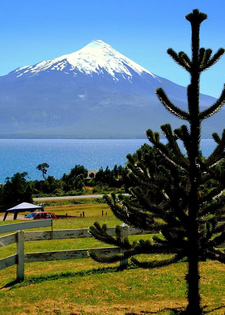 Osorno, Chile with view of Osorno Volcano